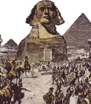 When Alexander arrived in Egypt, he was greeted as a hero by the grateful Egyptian people.